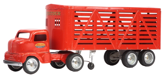 1953 Tonka Toys No 500 Livestock Semi Truck and Trailer 1