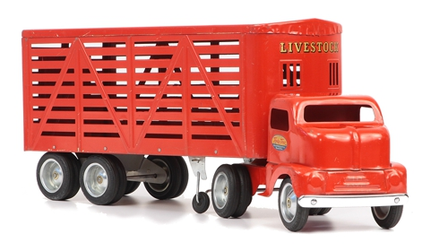 1953 Tonka Toys No 500 Livestock Semi Truck and Trailer 2