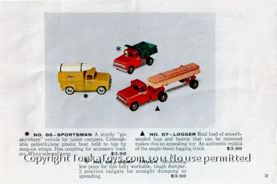 Selling a Tonka? Tonka 1959 Look Book Details - all Items