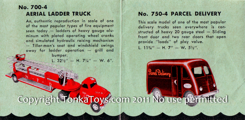 Selling a Tonka? 1954 Look Book Details - all Items for 1954