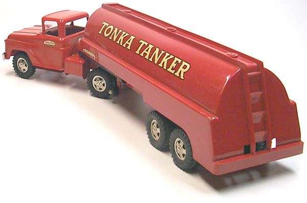 Rear Side View Of A 1960 Tonka Tanker Gas Truck