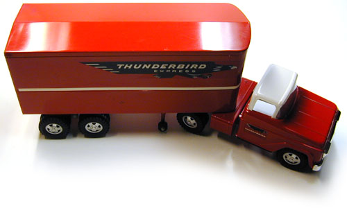 Top View of a 1960 Private Label Tonka Thunderbird Express Semi Number 37